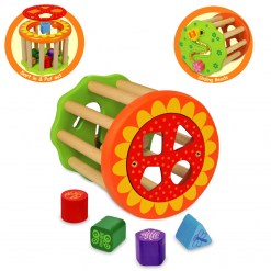 Wooden Block Sorter and Roller